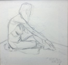 10 Minute Gesture Drawing, Graphite on Paper, 10x10, 2014