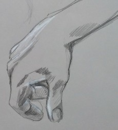 Hand Study, Pencil on Paper, 10x10, 2014