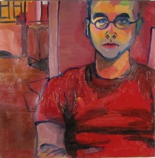 Kyle, Oil on Canvas, 24x24, 2014, Winner of Intercollegiate Prize Through Larac Gallery, Glens Falls, NY