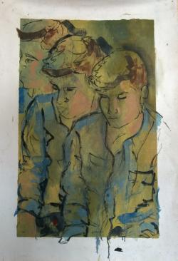 Mark, Oil on Canvas, 24x36, 2013