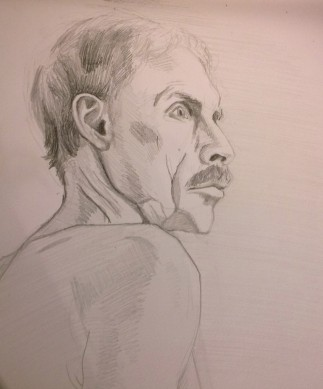 Paul, Graphite on Paper, 10x12, 2014