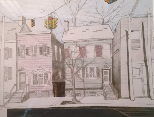 Untitled, Graphite, Colored Pencil and Collaged Photograph on Paper, Sold at BUILT2014, Art Auction for the Historic Albany Foundation