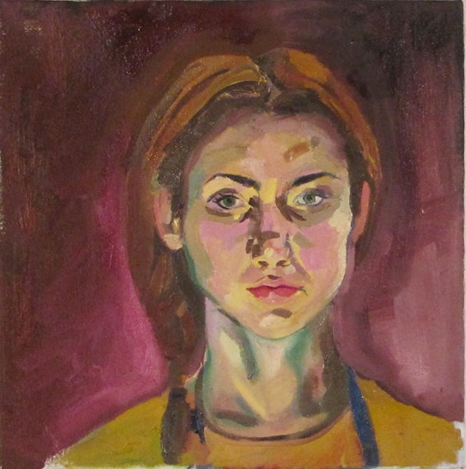 Untitled Self Portrait, Oil on Canvas, 18x18, 2012